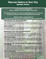 KNAP Speaker Series Poster Spring 2016