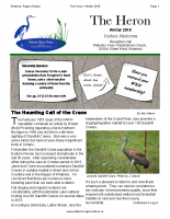 Winter 2015 The Heron