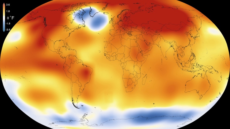 2015 – Warmest Global Year on Record (since 1880)