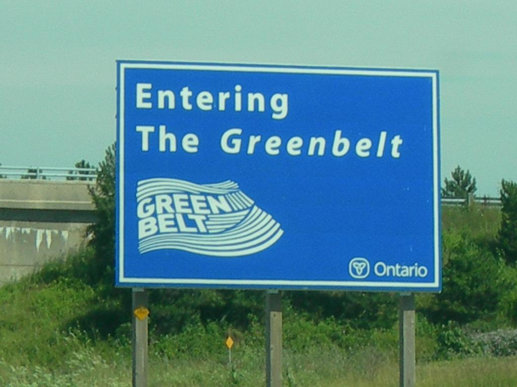 Entering The Greenbelt Sign