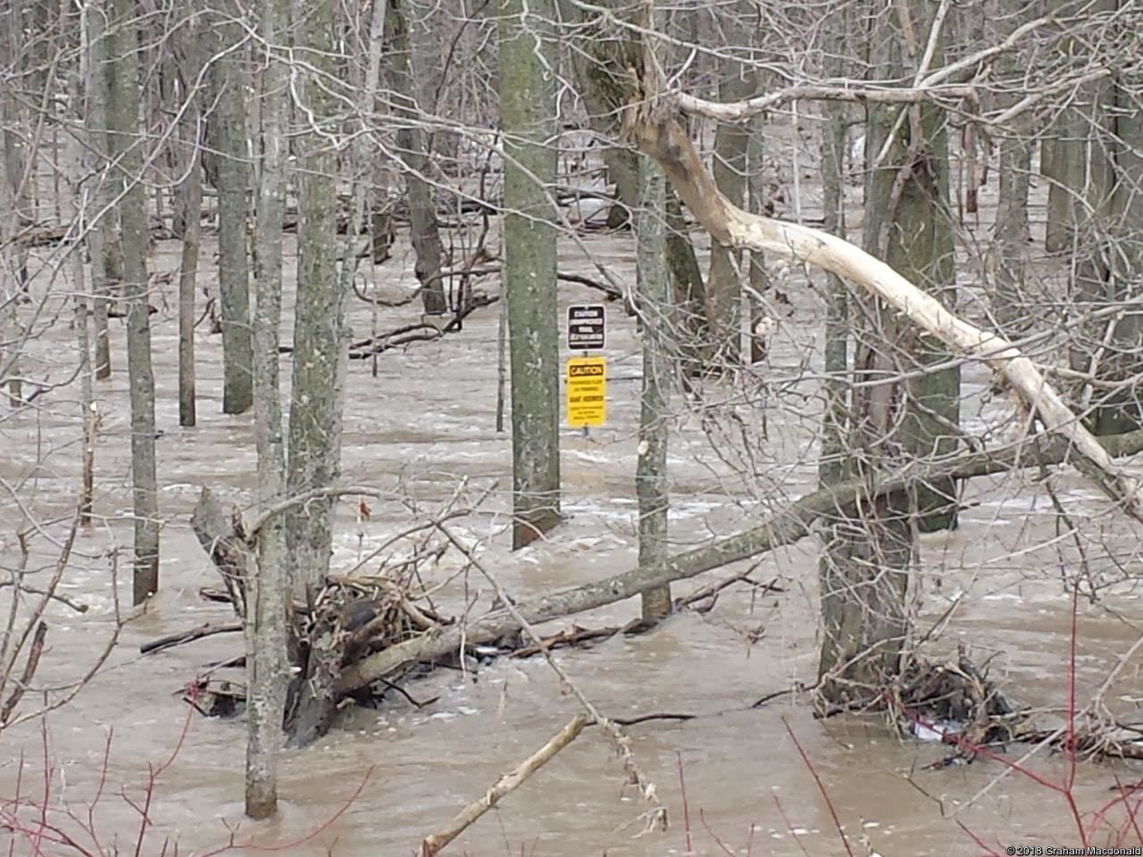 Montgomery Trail Flooded