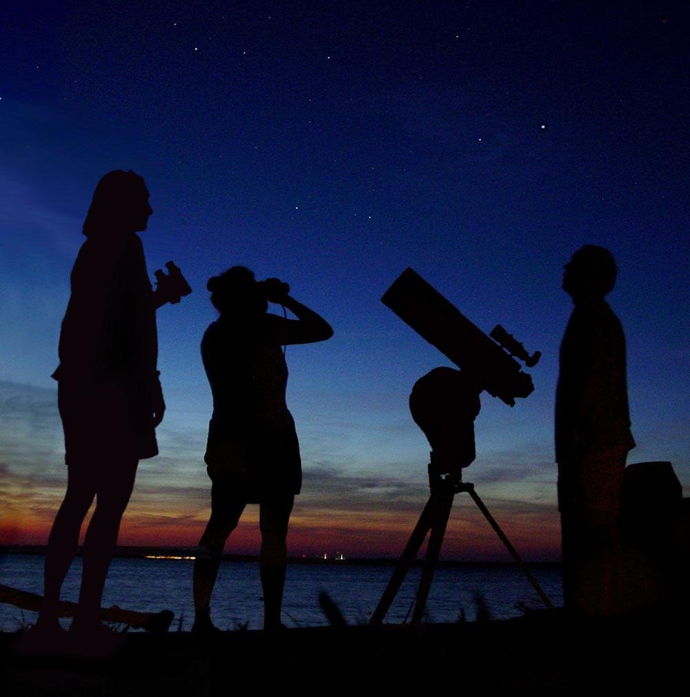 Viewing night sky