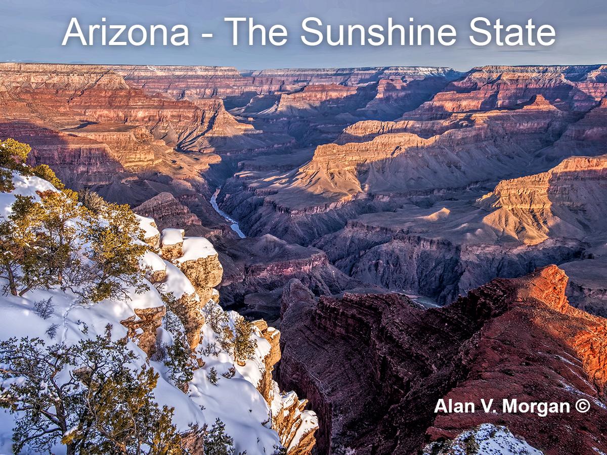 Arizona Grand canyon sunrise, Title slide 3 May 27 2019, Arizona, small