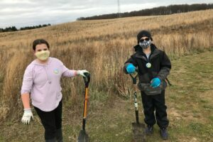 WRN Teens: Planting Trees at SpruceHaven